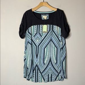 NWT Anthropologie Meadow Rue Gray Solvo Tunic